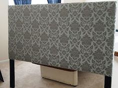 Drew from the top: Make your own headboard. This tutorial looks super easy... Think I'm going to try this!