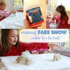 Making Fake Snow-Indoor Fun for Kids
