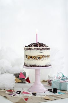 ... naked cookies and cream birthday cake ...