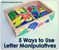 Five activities for using letter manipulatives