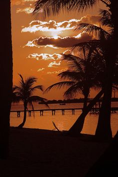 A beautiful sunset in Little Cayman, Cayman Islands.