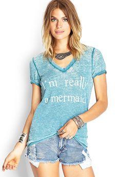Mermaid Burnout Jersey Tee | FOREVER21 #SummerForever