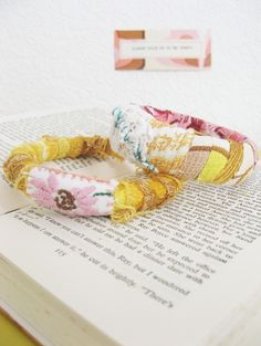 vintage fabric wrapped bangles...