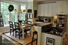kitchen tables, cozy kitchen, bay windows, white rooms, kitchen windows