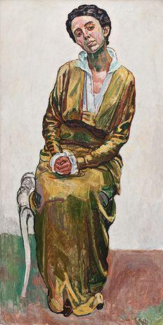 "Ferdinand Hodler, ""Portrait of Emma Schmidt-Müller (1915), Oil on canvas.Private Collection, Switzerland."