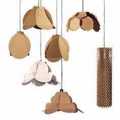 Lamps made of #corrugate #cardboard