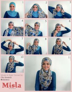 Lovely way to drape a rectangle scarf for fuller hijab coverage in front.