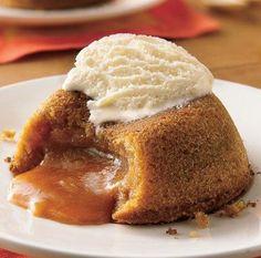 Molten Butterscotch Cakes
