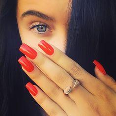 My fav nail polish color is a bright vibrant tomato-esque red-orange. Love.