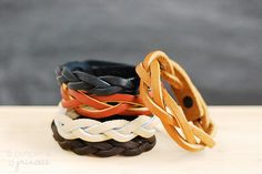 How to make a mystery braid bracelet leather crafts, braid bracelet, stacked bracelets, braided bracelets, gift ideas, jewelry bracelets, mother day gifts, diy projects, leather bracelets