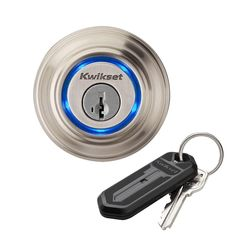 This is a great start to automating your home. Use the included key fob or your smartphone to lock and unlock your door.