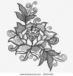 Google Image Result for http://image.shutterstock.com/display_pic_with_logo/804295/804295,1322247344,22/stock-vector-hand-drawn-lace-floral-vector-89551429.jpg tattoo ideas, flower and lace tattoo, lace flowers, lace shoulder tattoo, shoulder lace tattoos, lace tattoo shoulder, collar bone tattoos shoulder, flower tattoos, lace flower tattoo
