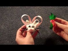 Easter Bunny and Carrot hair bow tutorial (How to make hairbow)