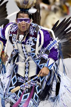 Powwows are large social gatherings of Native Americans who follow traditional dances started centuries ago by their ancestors, and which continually evolve to include contemporary aspects. These events of drum music, dancing, singing