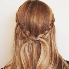 half up with a braid