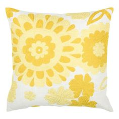 """I pinned this Decorative 18"""" Pillow in Yellow from the Spring Awakening event at Joss and Main!"""