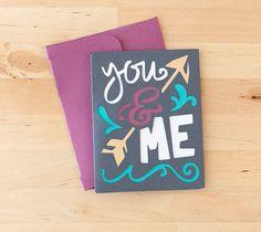 DIY You & Me Card. Make It Now in Cricut Design Space