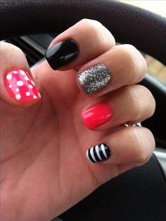 My fun nail design! ;)
