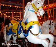 Picking your favorite horse on King Arthur's Carousel