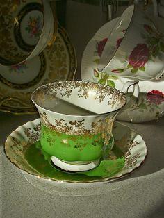 Royal Albert albert teacup, tea cup, green cup