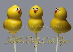 Ducky cake pops! cake pops, ducki cake, cakepop