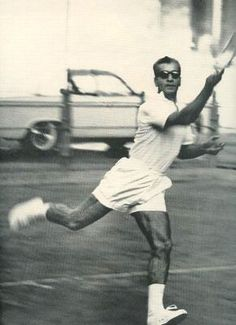 Mohammad Reza Shah playing tennis, Saturday Evening Post, April 14, 1962.