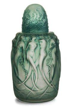 Lalique Sirenes circa 1920~Perfume Bottle siren, frosted glass, perfum bottl, rene laliqu, laliqu perfum, antique perfume bottles, art deco, art nouveau, vintage style