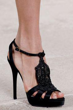 Ralph Lauren Spring 2013 Black Stilettos.