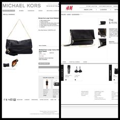 Get this look for less! Michael Kors - Large Tonne Pebbled Leather Fold-Over Clutch for $695.00 vs. H & M - Imitation Leather Bag for $19.95