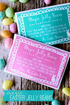 Magic Easter Jelly Bean Prints on { lilluna.com } - a fun Easter tradition