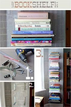 diy bookshelf! Darn good idea.