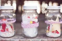 Cute idea...Christmas in a jar :)