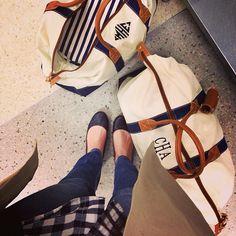 J. McLaughin Duffle Bags duffl bag, weekend bags, mclaughin duffl, travel bags, monogram, bridesmaid gifts, duffle bags, the navy, wedding gifts