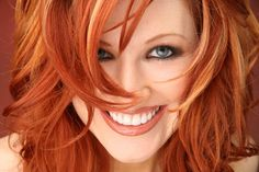 light red hair with blonde highlights
