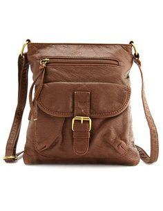 Leatherette Cross-Body Bag, $16.50; charlotterusse.com