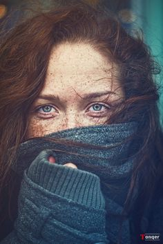 red hair blue eyes and freckles