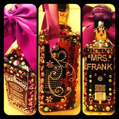 When the bachelorette loves Jack Daniels, and has a Mari Gras themed wedding, this makes for the perfect gift!