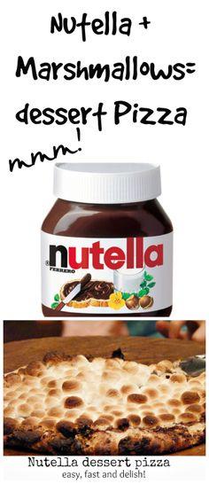 #nutella #dessert #pizza