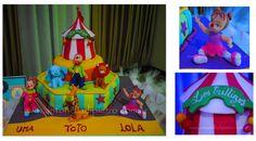 Torta para un cumpleaños de Circo. Circus cake. http://antonelladipietro.com.ar/blog/2012/06/el-circo-de-los-trillis/