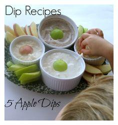 5 Kid Friendly Dips for Apples