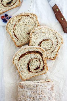 eggnog cinnamon swirl bread by girlversusdough, via Flickr