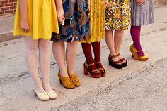 lovely vintage dresses and platforms