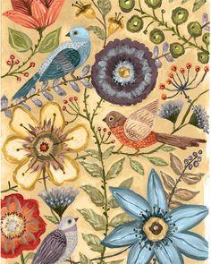 Pretty floral prints...www.lorisiebertstudio.etsy.com