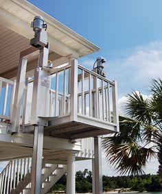 Stilt houses on pinterest cabin plans log homes and for Exterior dumbwaiter