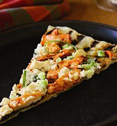 Grilled Pizza with Buffalo Chicken and Blue Cheese