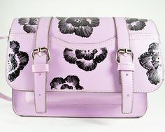 Painted flower purse