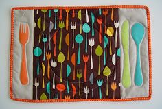 Fun handmade placemats help kids learn how to set the table!