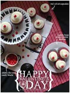 Happy Valentine's Day from Cupcake Rehab! (red velvet cupcakes with vanilla bean cream cheese frosting)