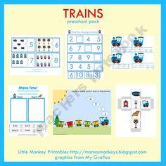 Trains Pre-K Pack