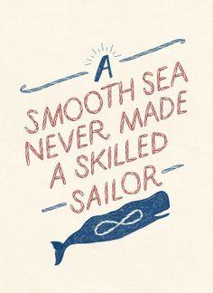 Nautical Print - Quote Print - A4 Print - Typography Print - Illustration Print
